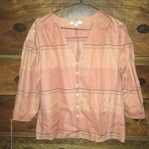 Madewell Morningview Tie-sleeve button down shirt